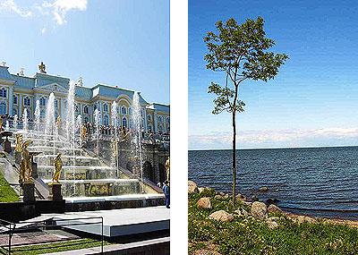 Петергоф и Финский залив у Петергофа