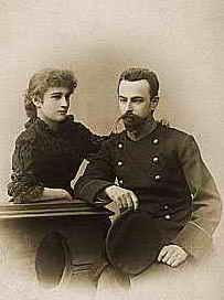 Мирра Лохвицкая с мужем, Е.Э. Жибером